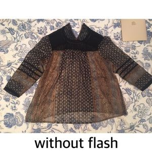 Lucky Brand Los Angeles Patterned Mesh Blouse